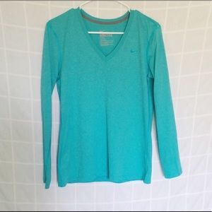 Nike Dri-Fit Long Sleeve Blue Shirt